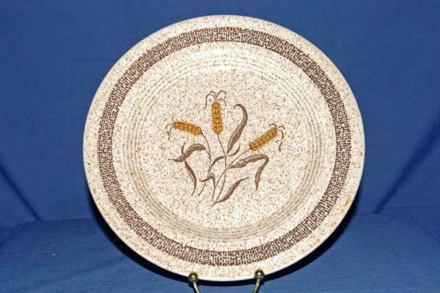 Homer Laughlin Brown Speckled Wheat Dinner Plates Set Of 3 10 1/4""