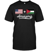 American  Jordanian  Amazing USA and Jordan Flags T Shirt - $17.99+