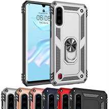 For HUAWEI P30 Metal Ring Case Shockproof Hybrid Silicone PC Heavy Duty Cover UK - $5.49+