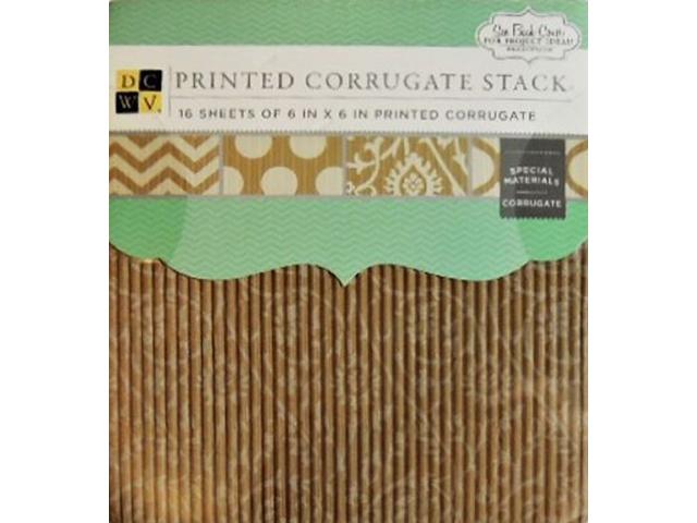 DCWV Printed Corrugate Stack Cardstock #MS-019-00141