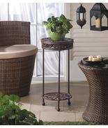 Round Cast Iron Plant Stand with Shelf - $83.30