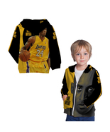 Kobe Bryant  Basketball Legend Zipper Hoodie For Boys Kids - $36.99+