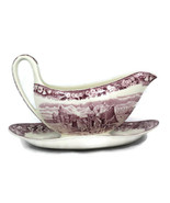 Wedgwood of Etruria Ferrara Plum Gravy Boat with Attached Underplate - $25.73