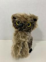 "Folkmanis small finger puppet screech owl turning rotating head stuffed plush 6"" - $7.91"