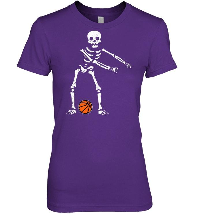 Flossing Skeleton Funny Basketball Lover Floss Tshirt