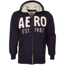 Aeropostale EST 1987 Navy Blue Men Fashion Zippered Hoodie - $24.98
