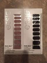 NEW 2 ESSIE Sleek Stick UV Cured Nail Art Applique A to Zebra, Croc'n Chic - $8.91