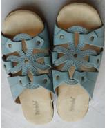 Women's Bjorndal Doughton Sky Blue Open Toe Slides Mules Sandals Shoes S... - $24.70