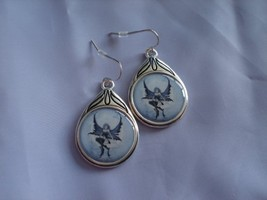Amy Brown Moon Child Cameo Fairy Earrings - $45.17
