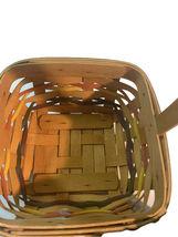 Longaberger Easter Basket Lining plastic liner handwoven dated 1998 image 5