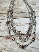 Paparazzi Dark Yellow Color Stone and Silver Tone Necklace and Earring S... - $5.99