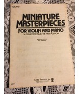 Miniature Masterpieces For Violin And Piano 24 Compositions - $4.26