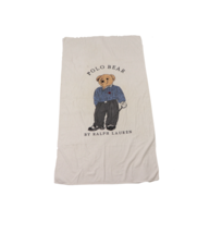 Vintage 90s Polo Ralph Lauren Polo Bear Terry Cloth Beach Towel Cotton 3... - $59.35