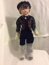 House Of Lloyd Christmas Around The World Edward Doll 26 In Tall porcela... - $33.30
