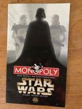 Star Wars Classique Trilogie Monopoly Rechange Pièces Instruction Règles Livret - $4.94