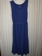 Liz Lange Maternity Dress Blue Size XXL Sleeveless Attached Belt Soft Co... - $9.49