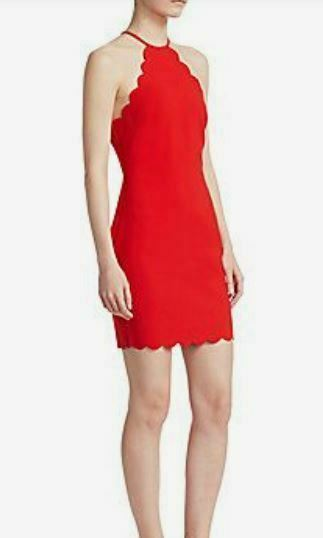 Likely Everly Scalloped Halter Dress - red size 12 - new with tags -- store