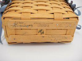 Longaberger 1997 Dresden Tour Basket II Fabric Liner & Protector 3 Signatures image 6