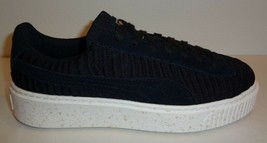 Puma Size 11 BASKET PLATFORM OW Black Fabric Suede Sneakers New Womens S... - $133.01 CAD
