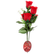 Hv Valentine Rose Bundle 6h W / Red  Pink Asst (Pack of 36) - $84.09