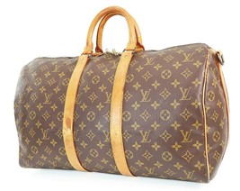 Auth LOUIS VUITTON Keepall Bandouliere 45 Monogram帆布行李袋#38354-$ 489.00