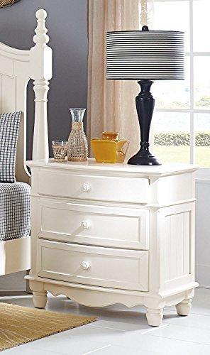 Homelegance Clementine White Postal Bedroom Set: Homelegance Clementine Night Stand In White