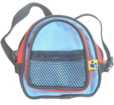 "Build A Bear Backpack for BAB Plush Animals 4.5"" Adjustable Straps Red Blue - $12.55"