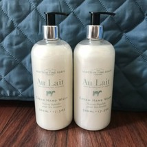 Pair Scottish Fine Soaps AU LAIT - SHEA BUTTER Cream Hand Wash 17.5 oz - $42.47