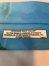 Three Stooges Golf Color Ralph Marlin Larry Moe & Curly 1996 Classic Neck Tie image 4