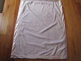 Little Me White Embossed Textured Print Baby Blanket Satin - $39.59