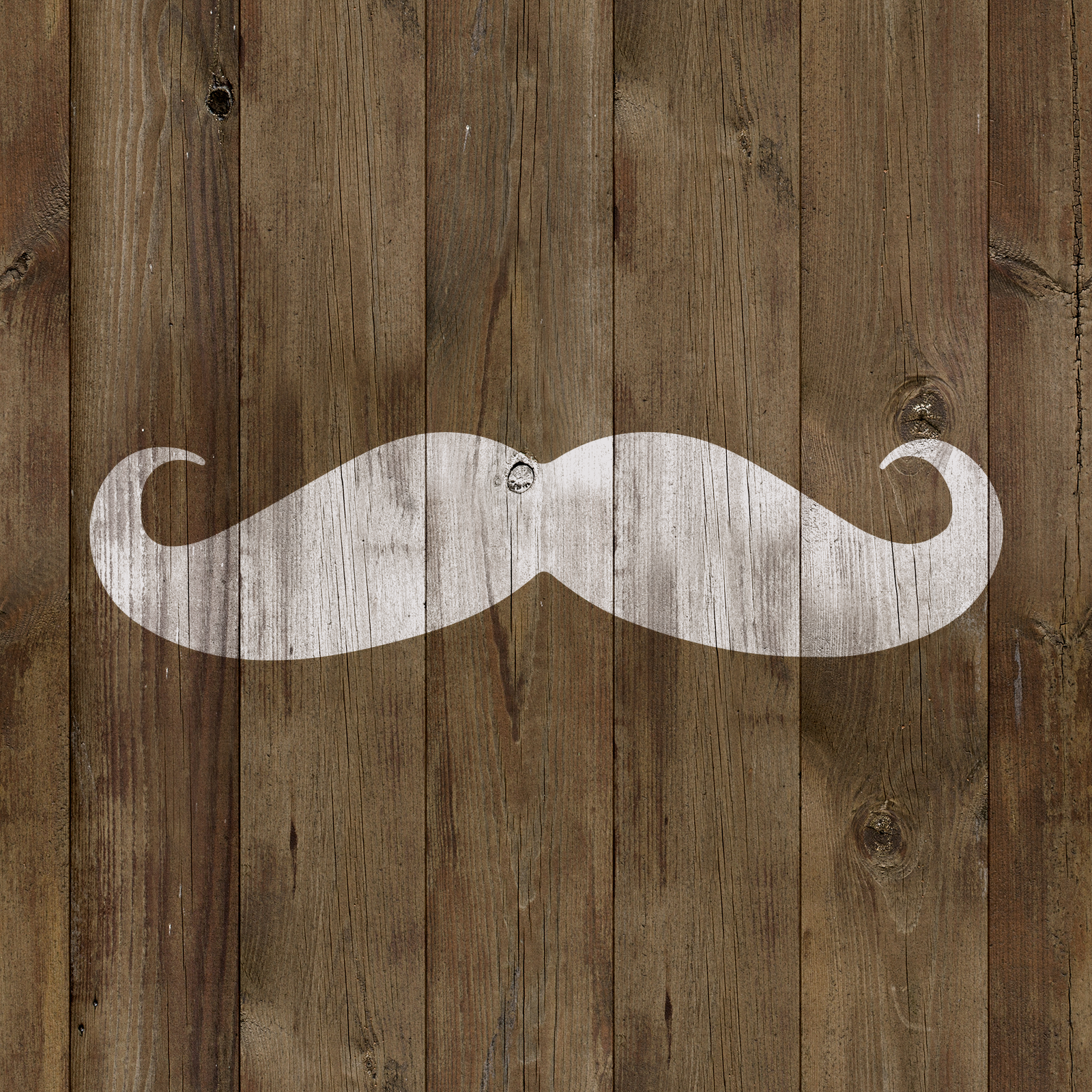 Mustache Stencil - Durable & Reusable Mylar Stencils