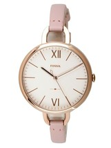 NEW Fossil Ladies Annette Pink Leather Strap Jewellery Watch ES4356 - $66.08