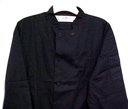 Dickies Chef Coat CW070315A L Plastic Button Black Uniform Jacket Discon... - $39.17
