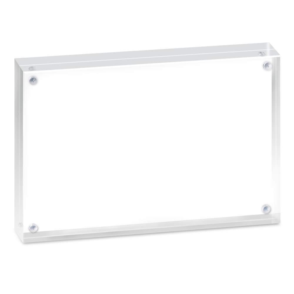 Primary image for 4pk Clear Acrylic Picture Frames Double Sided 4x6 Frameless Desk Picture Frame