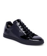 New Fendi Monster Bag Bugs Eyes Black Patent Leather Low-Top Sneakers 9 ... - $395.00