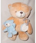 Hallmark Forever Friends Bear Hugs Tan Blue Mom Baby Plush Stuffed Anima... - $26.61