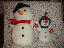 Ty Snowball Beanie Buddy And Snowgirl Beanie Baby - $21.99