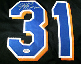 MIKE PIAZZA / MLB HALL OF FAME / AUTOGRAPHED NEW YORK METS CUSTOM JERSEY / COA image 3