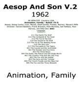 Aesop and Son 1962 Classic Cartoons V.2 TV DVD #8501 - $7.59