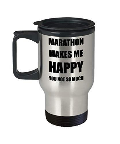 Marathon Travel Mug Lover Fan Funny Gift Idea Novelty Gag Car Coffee Tea 14oz St