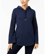 STYLE & CO Wide Sleeve Basic Pullover Comfy Everyday Hoodie, Navy NWT XS - $15.36