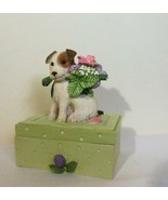 Bastin  Dog with Bouquet Treasure Box and Stamp - $23.00