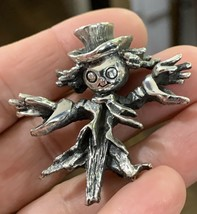 Vintage Signed Tortolani Rare Scarecrow Brooch Pin - $38.70
