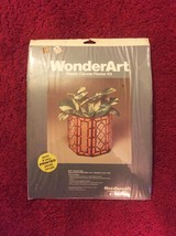 Vintage 70s WonderArt Plastic Canvas Planter Kit #6004 - by Needlecraft
