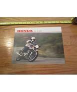 Honda Motorcycle Hawk 1981 Vintage Dealer Sales Brochure - $14.99