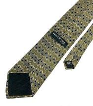 New KENNETH COLE New York TIE Olive & Blue Geo Silk Men's Neck Tie - $13.95