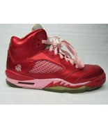Nike Air Jordan 5 Retro GS Valentines Day Red Pink 440892-605 Size 5 Youth - $51.30