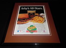 1986 Arby's / Baseball Framed 11x14 ORIGINAL Vintage Advertisement - $32.36