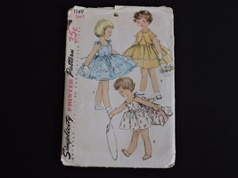 Vintage Simplicity Sewing Pattern 1955 1149 Cut Size 6 Sun Dress Bolero ... - $11.32