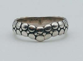 Vintage Snake Dragon Scales Textured Silver Ring - $39.59